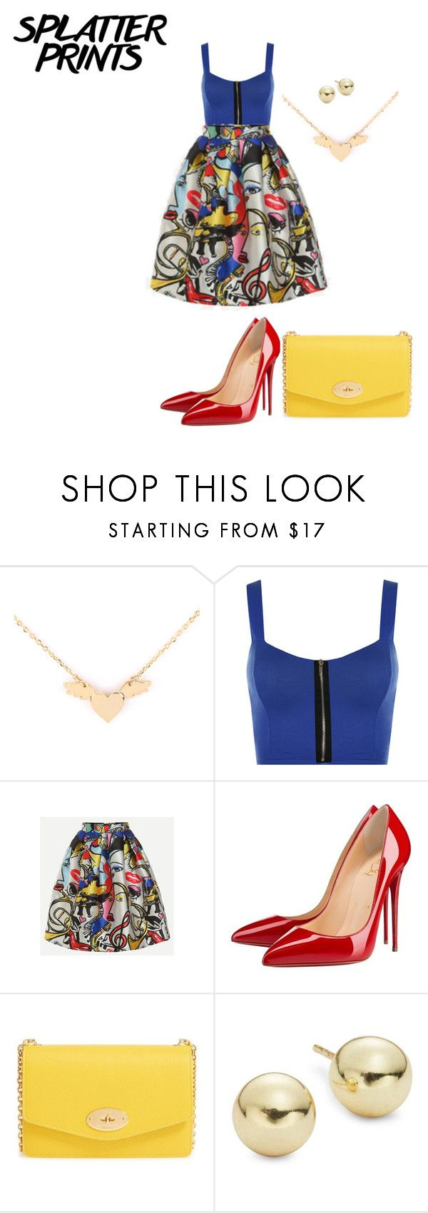"""Untitled #1688"" by nadia-n-pow ❤ liked on Polyvore featuring WearAll, Christian Louboutin, Mulberry, Lord & Taylor and paintiton"
