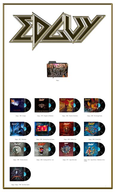 Album Art Icons: Edguy Discography Folders (ICO & PNG)