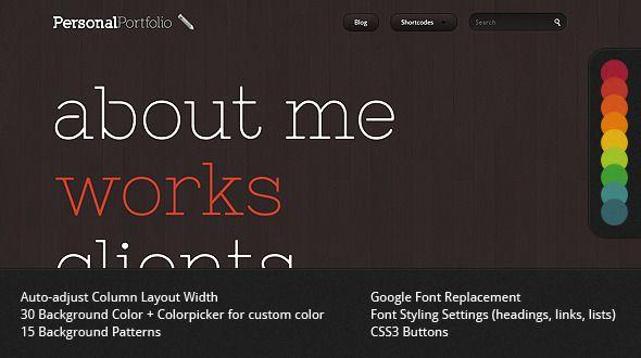 Personal Portfolio - Creative Website Template  #themeforest