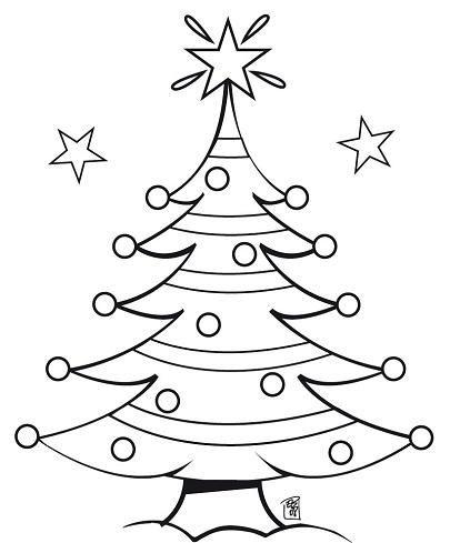 Hard Christmas Coloring Sheets | Hard Christmas Tree Coloring Sheets