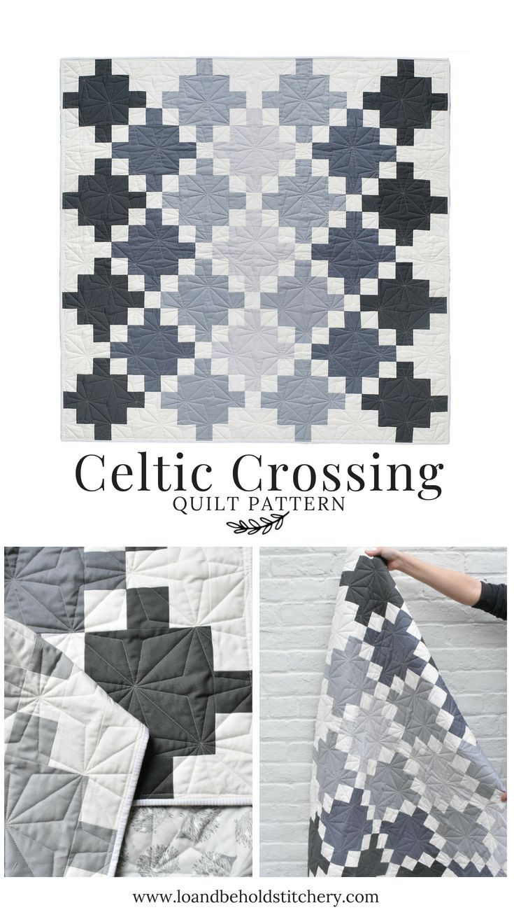 Celtic Crossing | Modern Quilty | Quilt patterns, Irish chain quilt