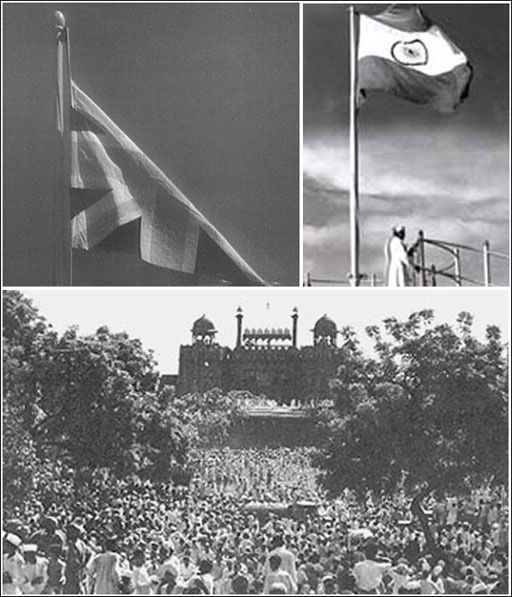Indian flag replaced British flag on August 15, 1947 as India got independence