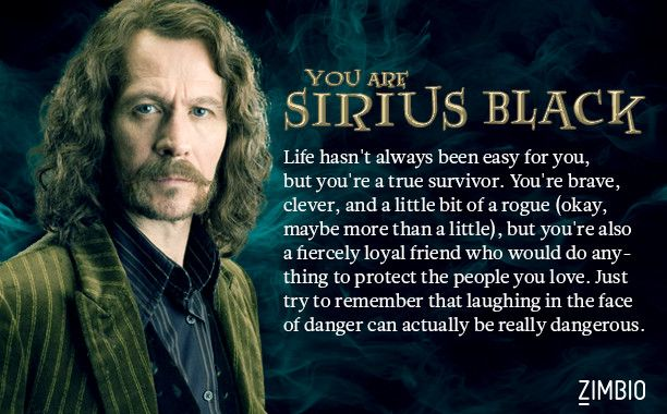 Which member of the Order of the Phoenix are you? I got Sirius Black and the description is almost creepy accurate.