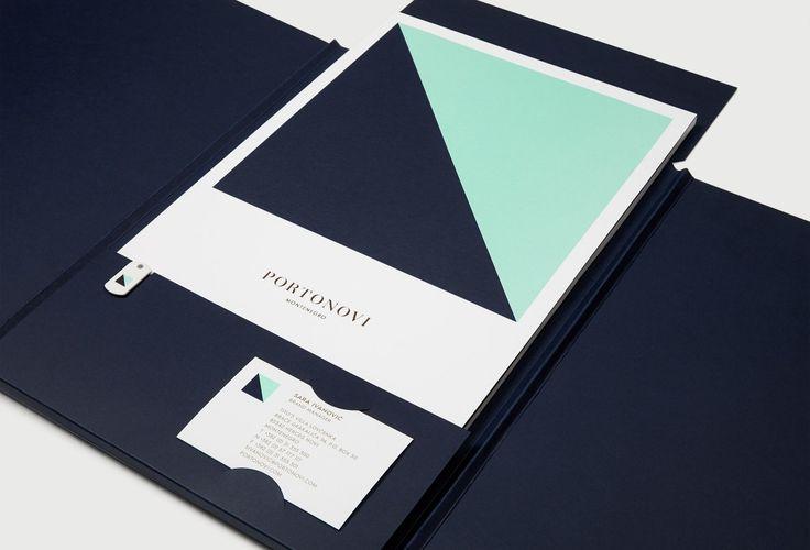 Portonovi brand identity by Inaria. Luxury property, marina and hotel brand strategy, brand design and art direction.