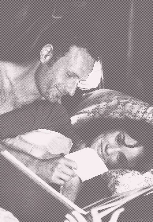 Andrew Lincoln and Sarah Wayne Callies as Rick & Lori from The Walking Dead (2010-present)