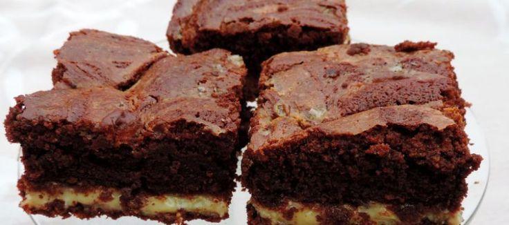 Brownie met salted caramel   Lekker Tafelen