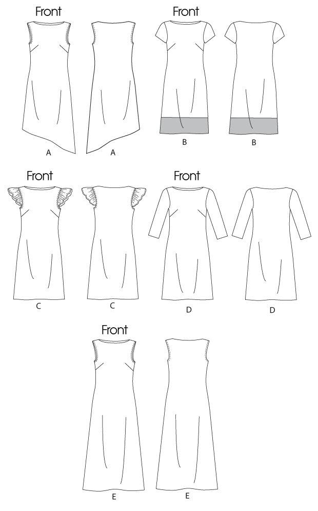 McCall\'s 6465 Misses\' Dresses | Szabás-varrás | Pinterest | Sewing ...