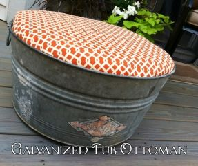 Eleanor Olander: This is me...: Galvanized Tub Turned Outdoor