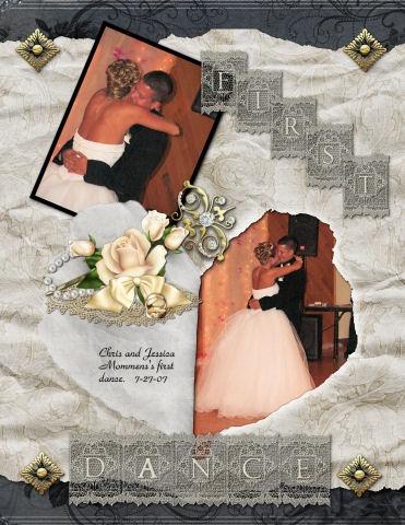 Beautifully elegant grey black and white wedding heart page
