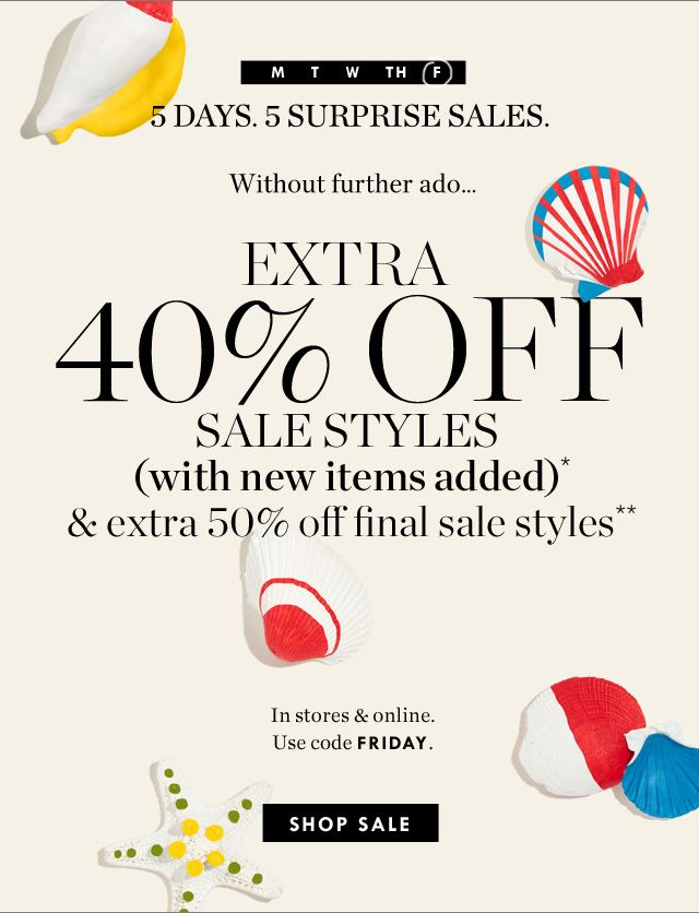 J.Crew: Ends tonight: extra 40%-50% off new sale styles | Milled