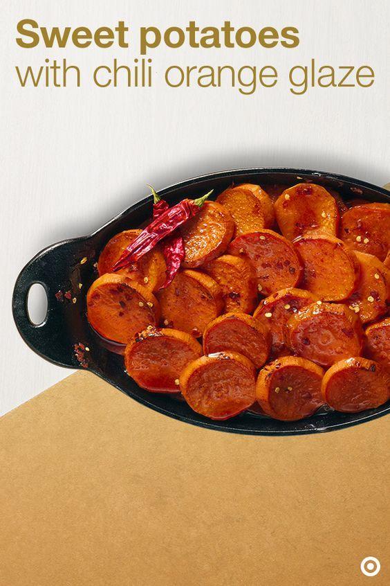 Sweet Potatoes with Chilli Orange Glaze