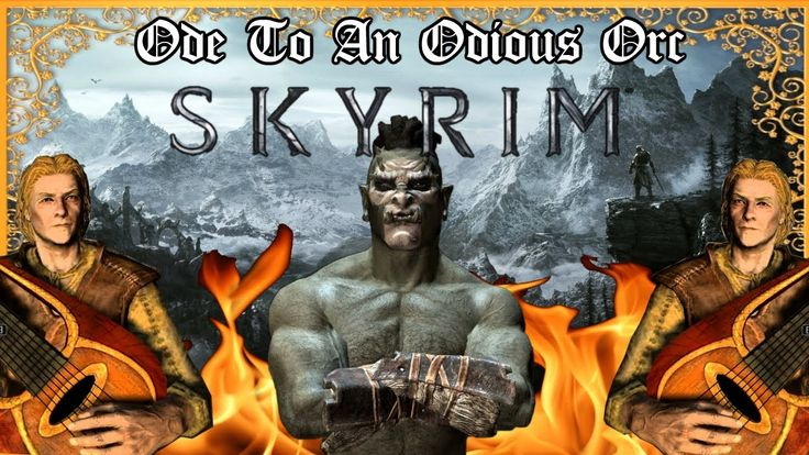 Wrote a little ballad about an Odious Ork. Grab a mug of mead and enjoy! #games #Skyrim #elderscrolls #BE3 #gaming #videogames #Concours #NGC