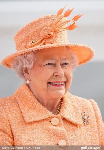 Queen Elizabeth  March 10  2015 in Rachel Trevor Morgan   Royal Hats