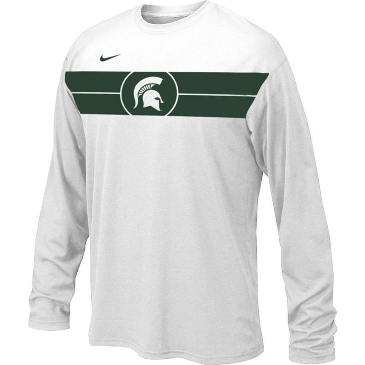 Nike Youth Michigan State Spartans Basketball Legend White Long Sleeve T-Shirt, Team