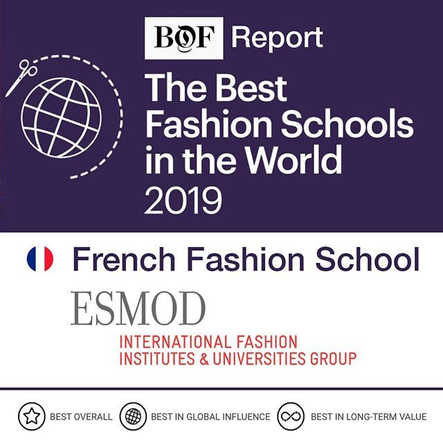 Bof Business Of Fashion Awards Esmod As Best French Fashion School In The World 2019 With Top Fashion Desi Best Fashion Schools University Style School Fashion