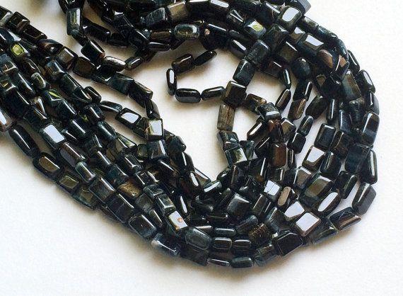 WHOLESALE 5 Strands Black Tigers Eye Beads Black by gemsforjewels