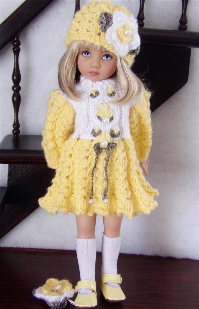 "DRESS,HAT&SHOE SET MADE FOR EFFNER LITTLE DARLING,TONI P90 &SIMILAR SIZE13"" DOLL:"