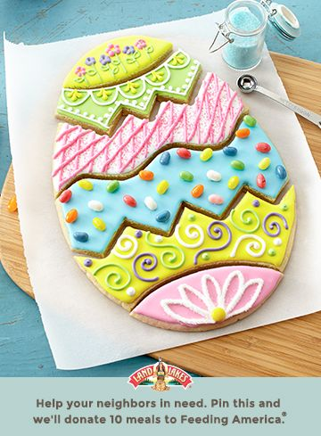 Grin. How fun is this sweet cookie puzzle? Learn more about Pin a Meal. Give a Meal. and Feeding America® at LandOLakes.com/pinameal. (Pin any Land O'Lakes recipe or submit any recipe pin at LandOLakes.com/pinameal.)