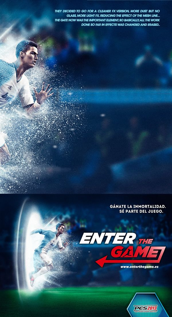 PES 2013 Photoshop And Cinema 4D Case Study