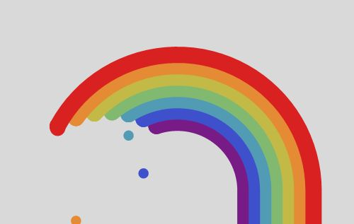 just dripping with rainbow goodness