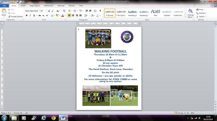 New flyer with evening session included Oct 2014