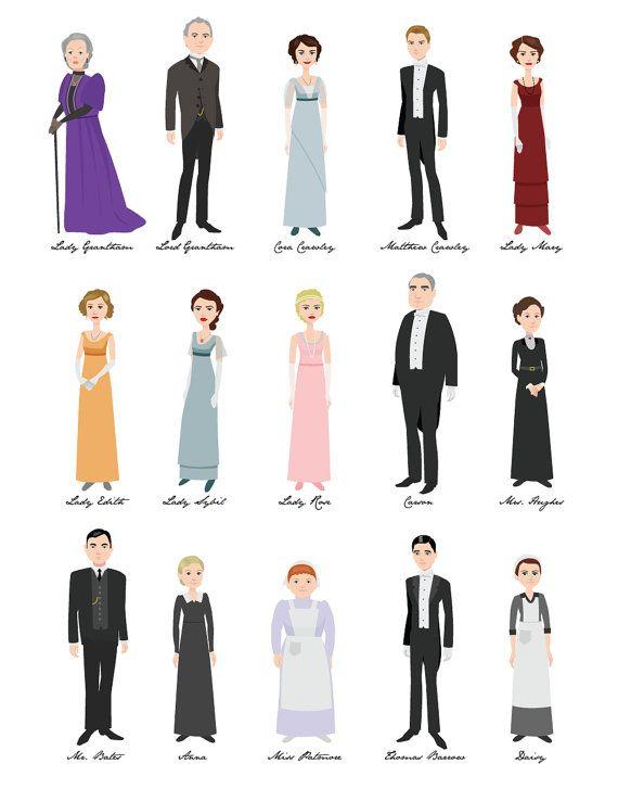 Mejores 17 imágenes de Downton Abbey en Pinterest   Muñecas de papel ...