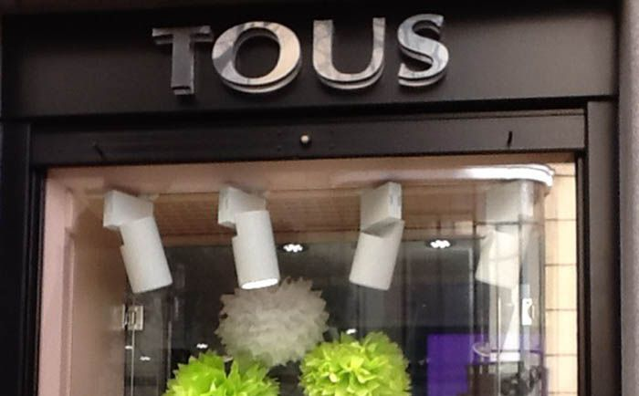 Proyectores led para tienda Tous