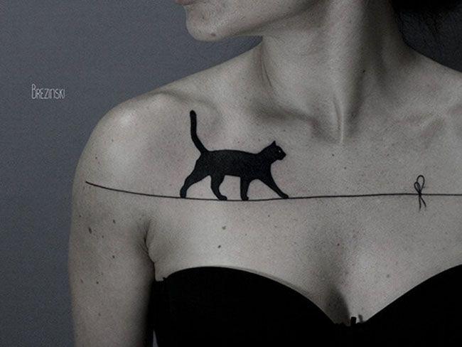 Фото: Тату с котами, которые вам точно понравятся (Фото)