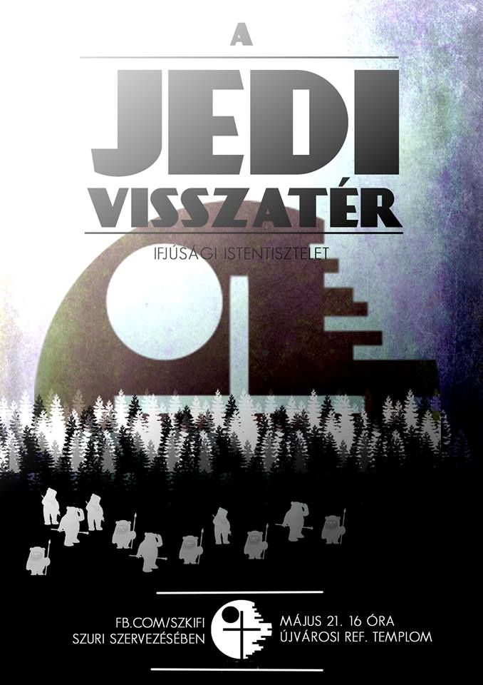 szkifi, event flyer, youth event, christian, star wars, sci-fi, last one, the return of the jedi, poster