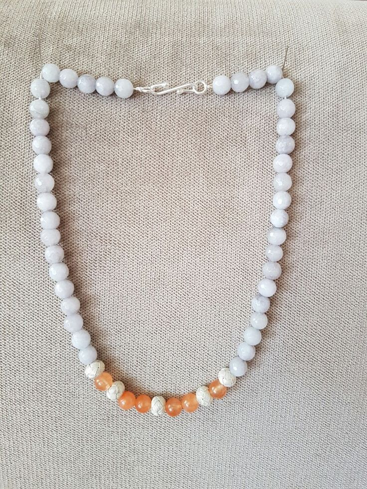 Turkish Knot balls and stones turange grey silver