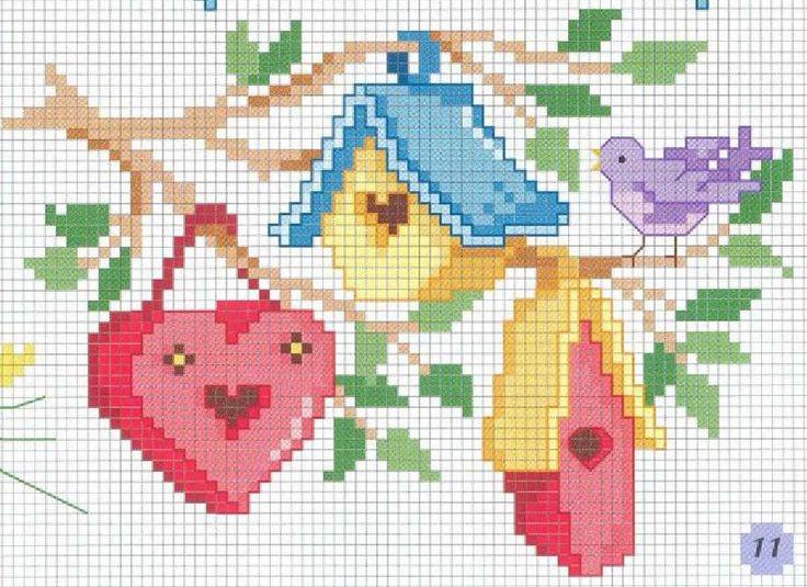 cross stitch free pattern                            - http://rusensdiary.files.wordpress.com/2011/04/pattern1.jpg