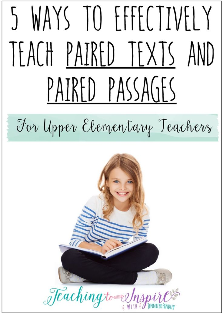 6 Ways to Effectively Teach Paired Texts and Paired Passages {Free Posters and Center}