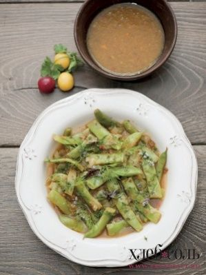 Овощи в ореховом соусе