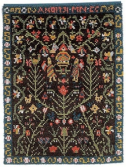 folklore rug from porvoo, finland
