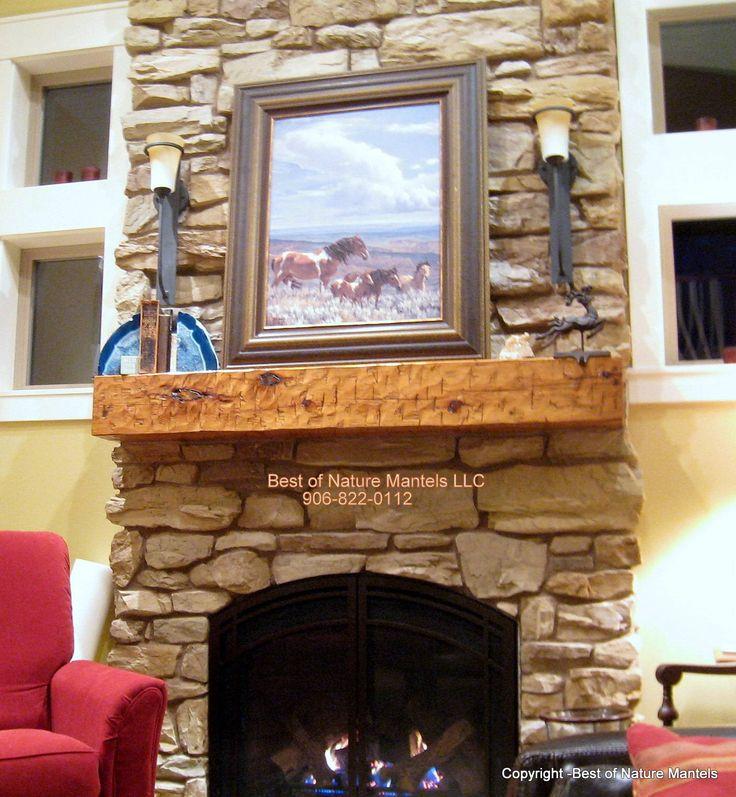 17 Best Ideas About Rustic Fireplace Mantels On Pinterest
