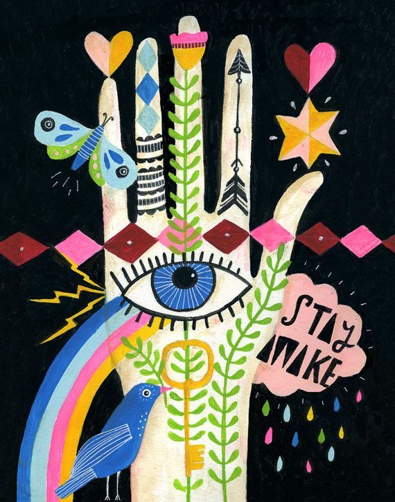Stay Awake Art Print by Lisa Congdon -now available in her shop!
