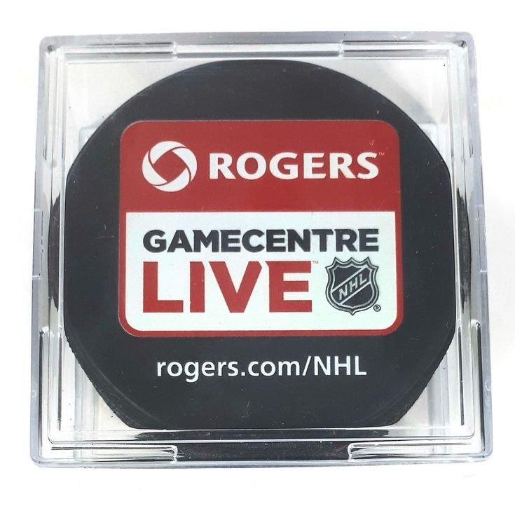 Rogers Gamecentre Live NHL Game Centre Hockey Puck New in Case | eBay