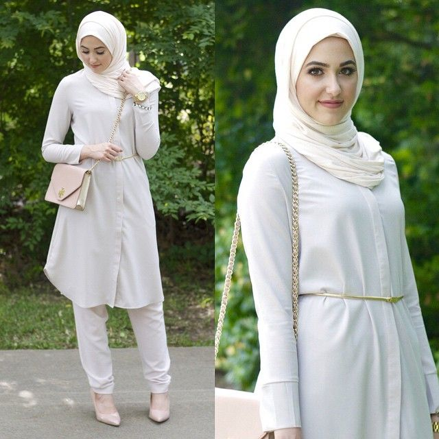New post wearing head to toe neutrals on the blog :) Wearing @ilovemodesty_ long dress shirt and jersey hijab both directly linked on my site :) Link in my profile!  P.s This dress shirt would be perfect for modest professional dress! I wore the peach one for a presentation a few weeks ago :)