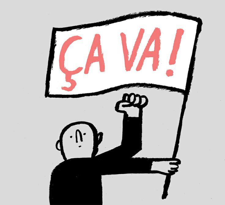 Jean Jullien's online portfolio: Le Nouvel Observateur: Optimism
