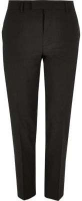 River Island Mens Black skinny fit suit pants