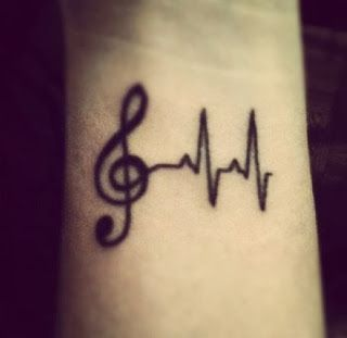 girly music tattoos and music note tattoos
