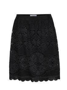 Obrázek Černá sukně s perforovanými detaily VILA Bellina