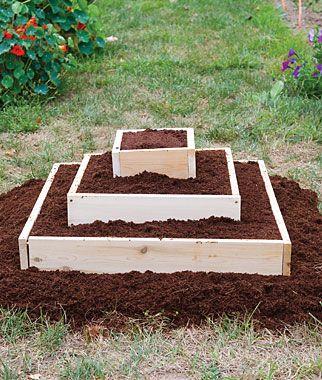 Pyramid Garden Kit, 1x4 cedar sides so I am sure I can DIY