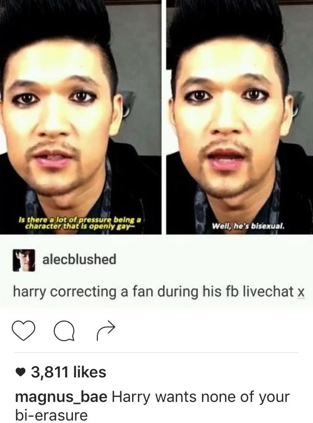 HE'S THE BOMB<<<<<k I honestly am ashamed of this show as a whole because the books are my life and the show is trash but I love the actor that plays Magnus and I love this whole post