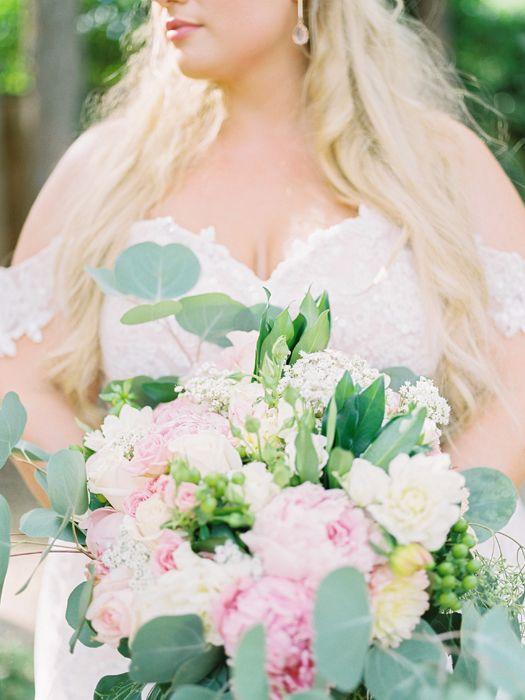 Romantic blush peony bouquet. Fine art film photography in the Okanagan BC