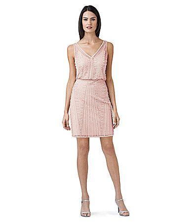 Adrianna Papell Beaded Blouson Dress #Dillards