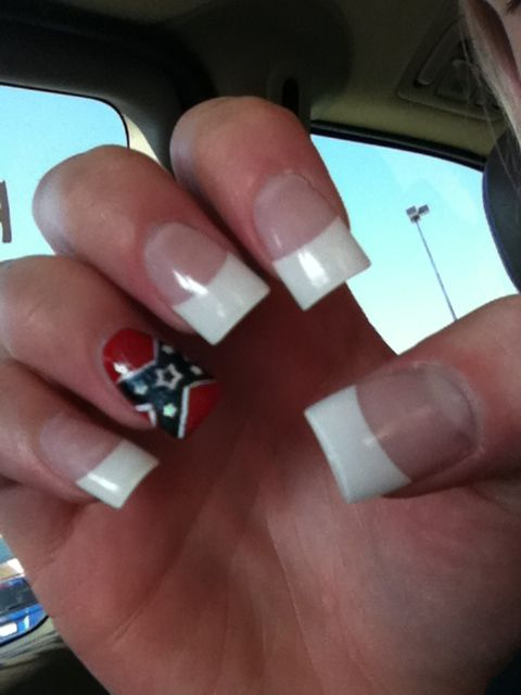 Rebel Flag Nail Art Image Collections Easy Nail Designs For