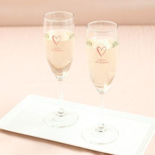 """Beau-Coup.com personalized champagne flute favors (""""Lucky Elephant"""" Design)"""