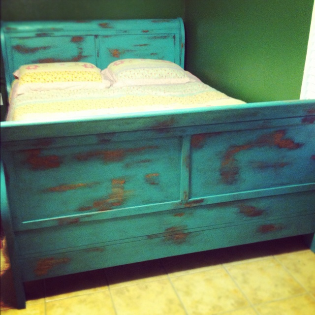 Distressed Bed Frame For The Home Pinterest Peacocks