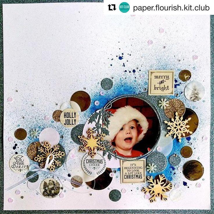 A super fun layout created by @rachel_dutko for the September Kit.. #paperflourishkitclub #paperflourish #scrapbooking #scrapbookingkit #cardmaking #kaisercraft